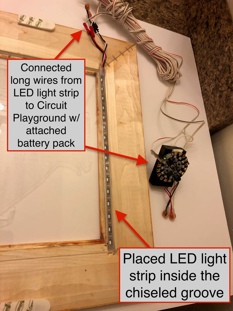 The Picture Frame: Installing LED Lights