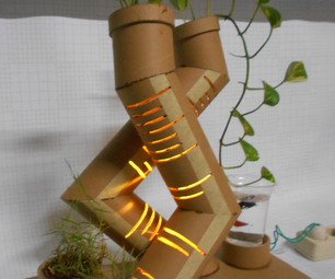 Plant Pots Cardboard With Light