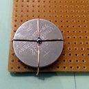 Button cell CR2032 battery holder.