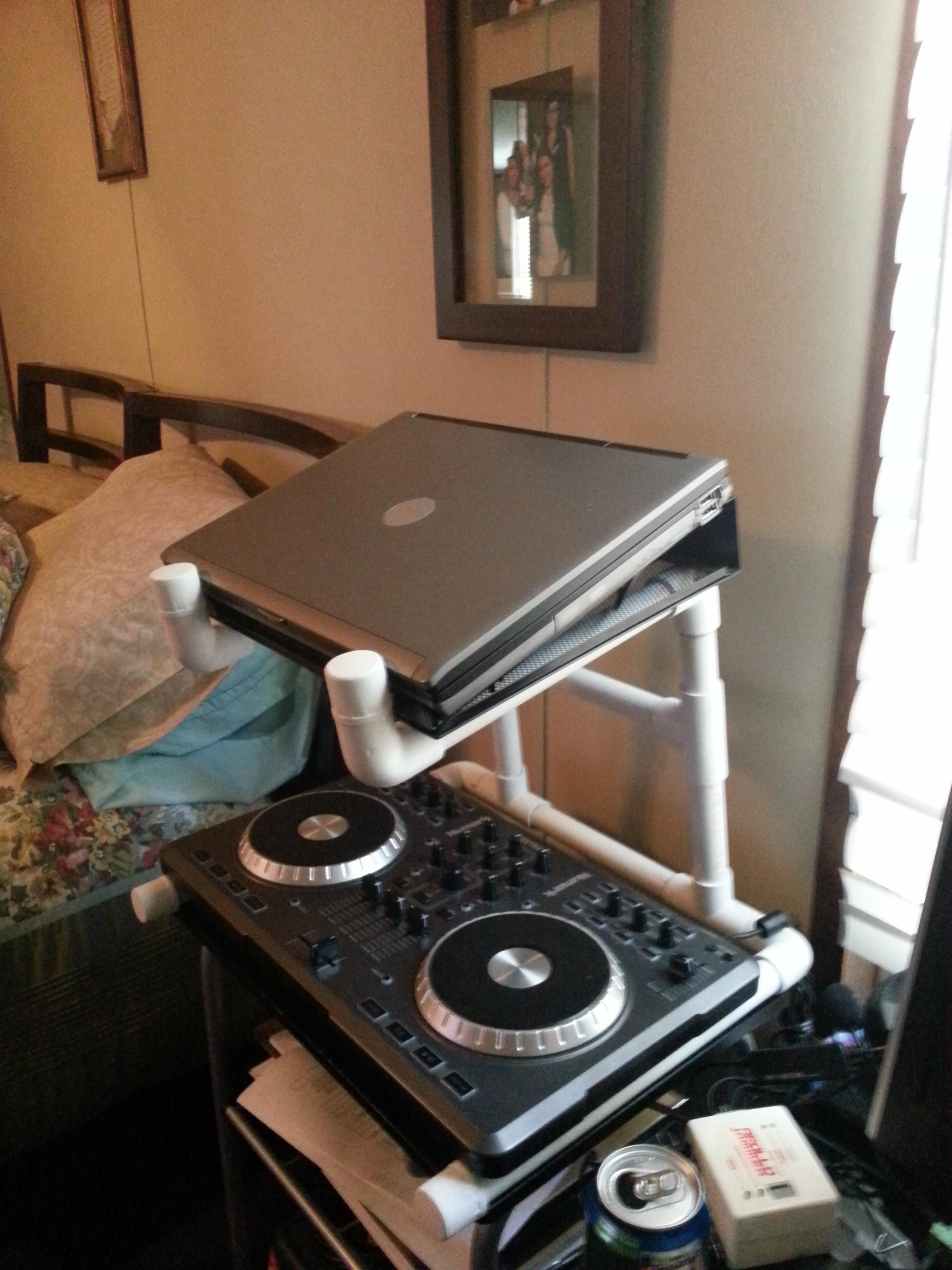 PVC DJ Laptop and Mixer Stand