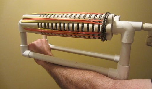 How to Make a PVC Rubber Band Machine Gun Gatling Gun - PVC Pipe Projects