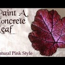 Concrete Leaf Painting | Natural Pink Style
