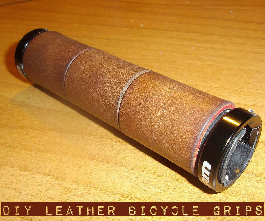 How to make your own DIY leather bicycle grips (with waste materials)