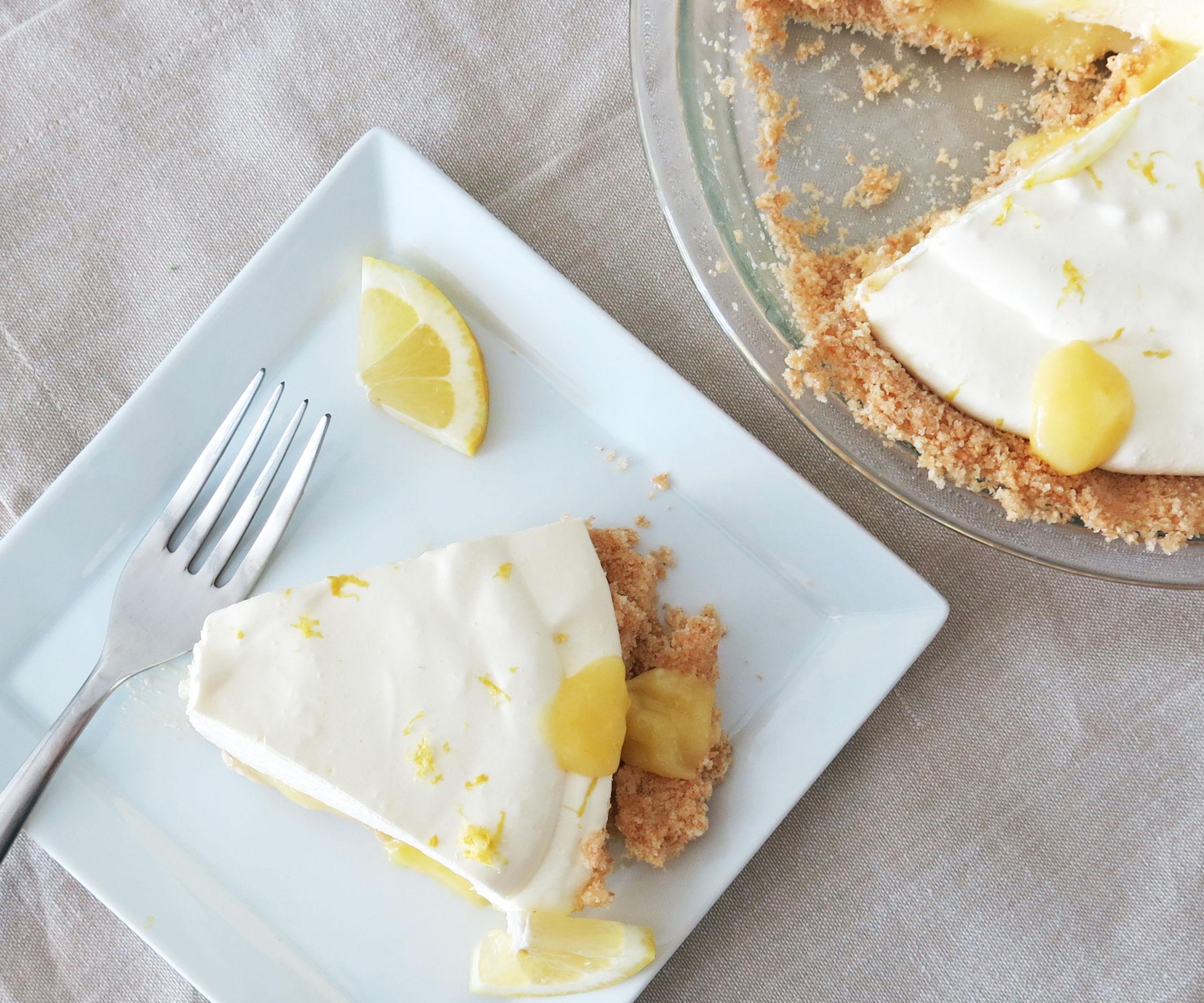Lemon Curd Jello Pie