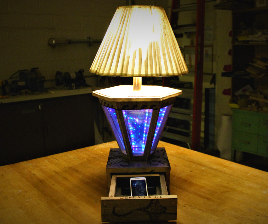 How to Build a Secret Barn-Wood Infinity Lamp