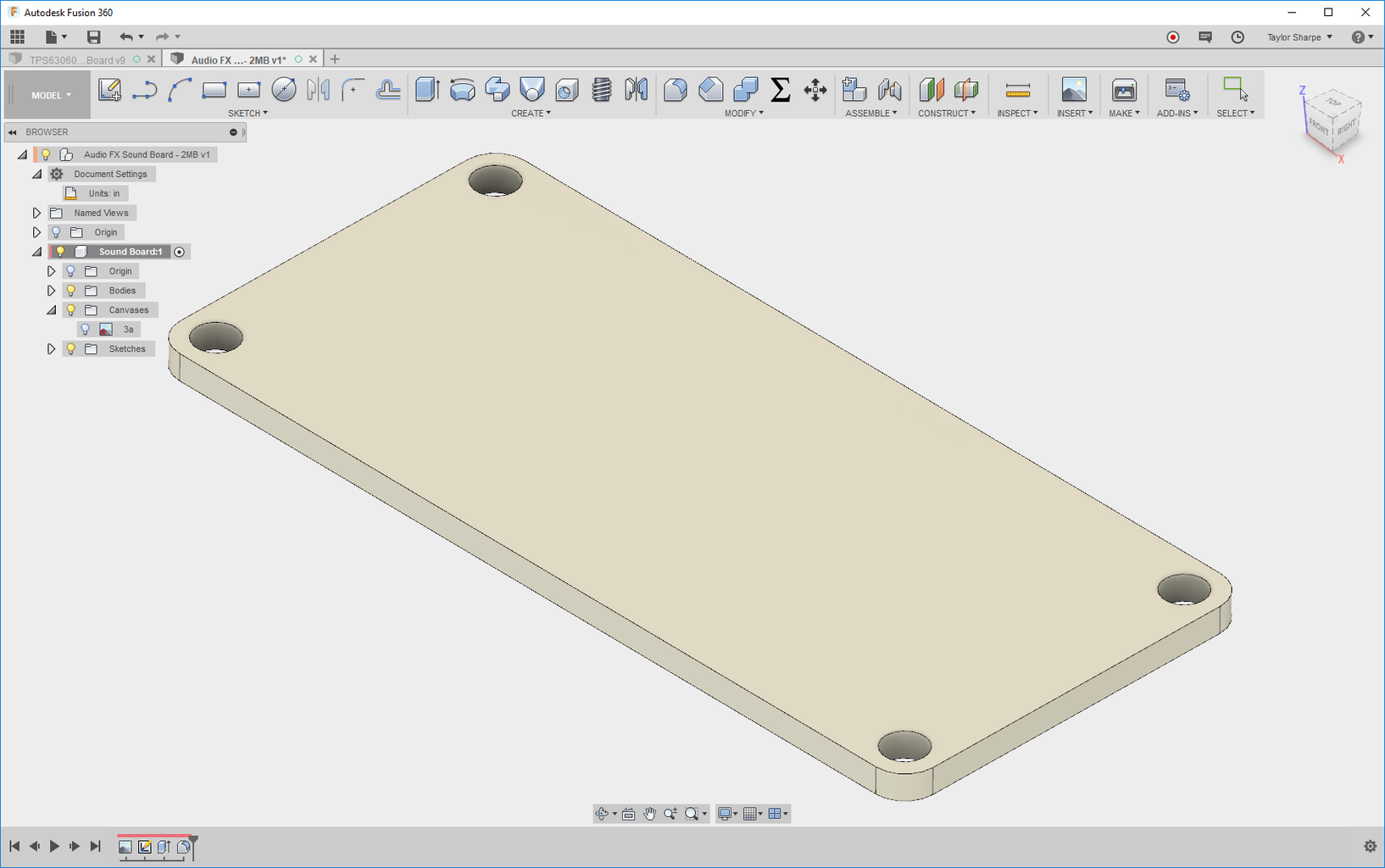 Create the Board Outline in Fusion 360