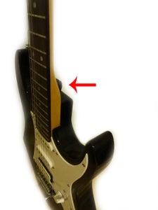 Pick Holder on Guitar