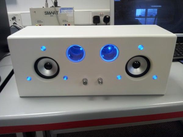 Sound Reactive 2.1 Audio Amplifier (flashy Ipod Dock)