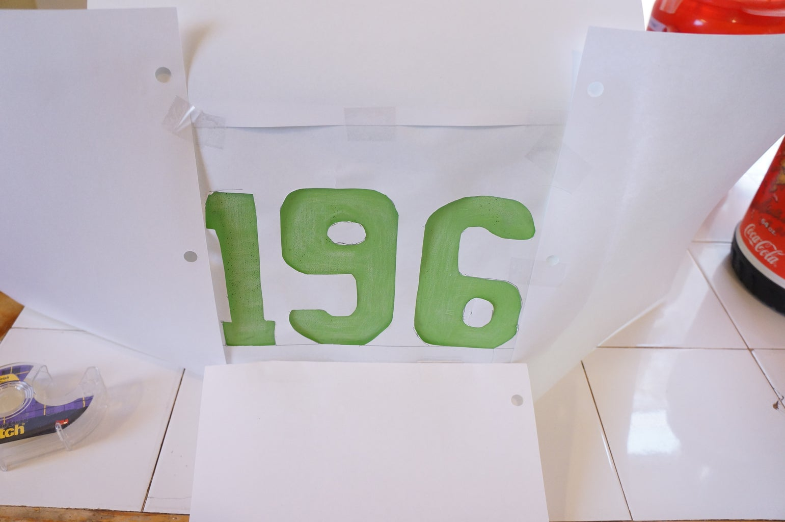 Tape the Address Numbers to the Jug