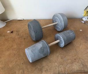 锻炼的混凝土砝码