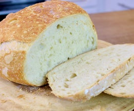 Lazy Man Bread | 4 Ingredients Bread Recipe | No Knead | No Machine