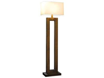 Wood an Copper Pipe Lamp