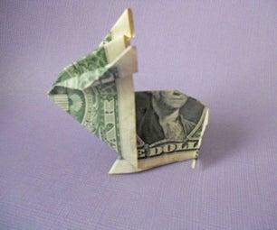 Easy Origami Money Rabit