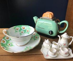 简单且价格便宜的小女孩生日:茶党