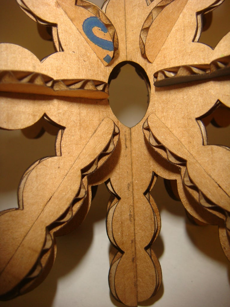 Cardboard Snowflake