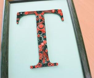 Paper Quilling Letter T