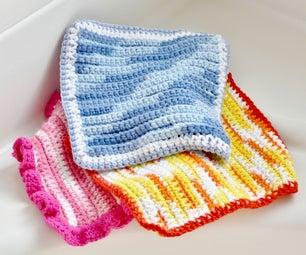 Easy Crochet Dishcloth / Washcloth