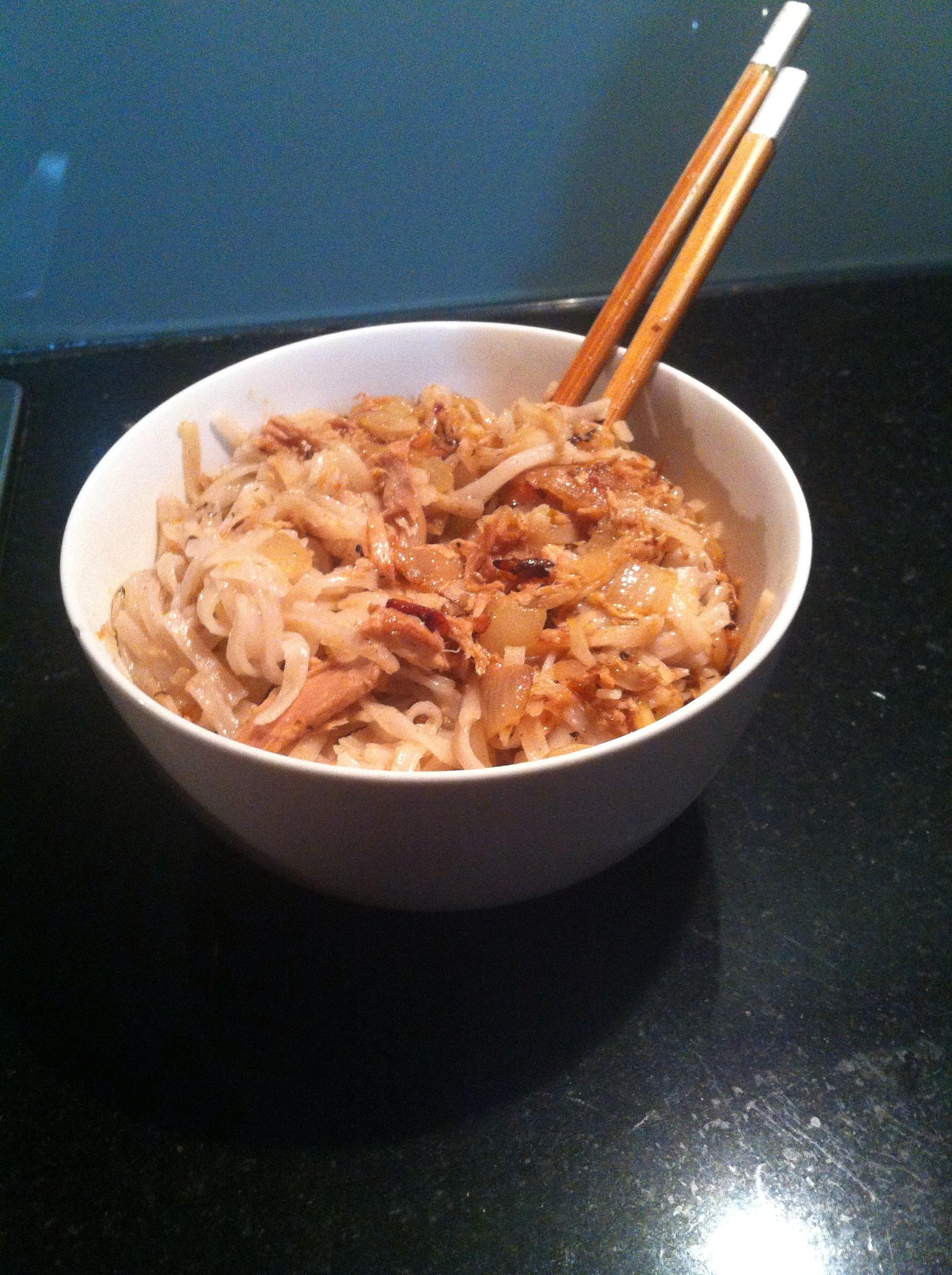 Tuna Rice Noodle Stir Fri