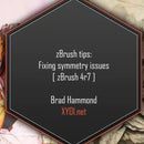 zBrush Tips: Fixing symmetry issues [zBrush 4r7]