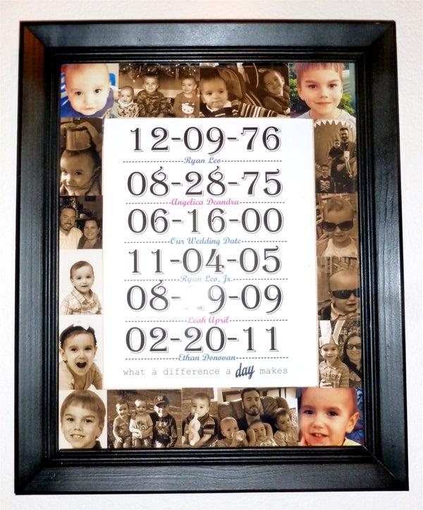 Important Family Days Frame & Print