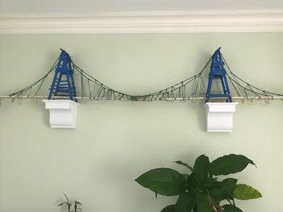 Popsicle Stick  Bridge With Capacity of 100lb+