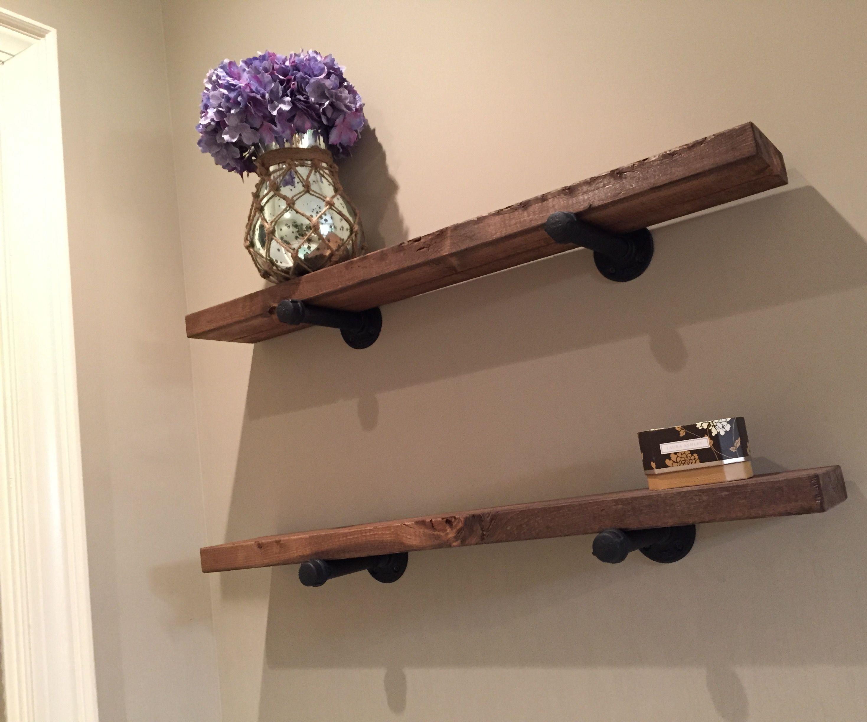 Simple Iron & Wood Shelves