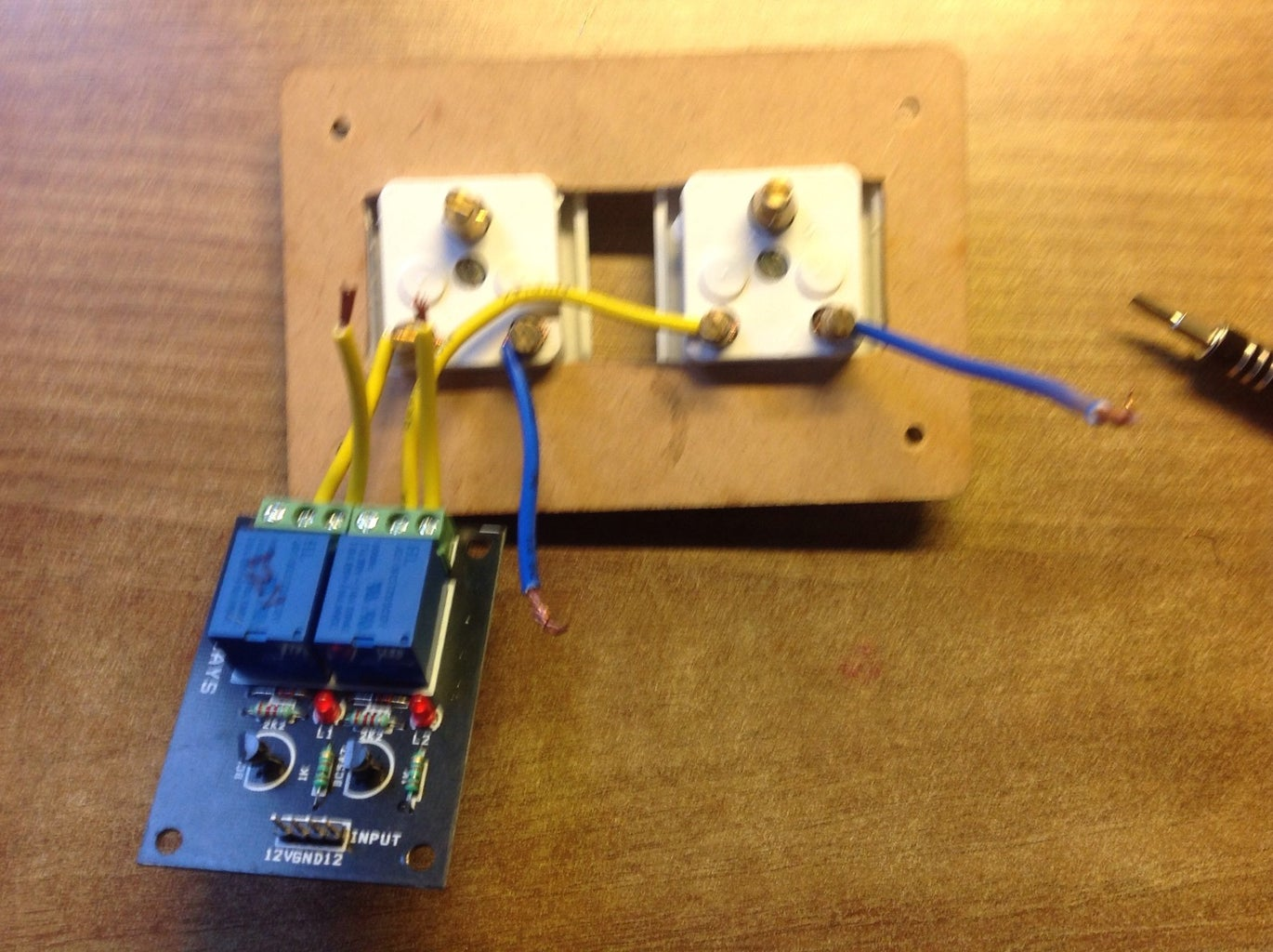 Connecting Relay to the Sockets and Power Source (phase One)