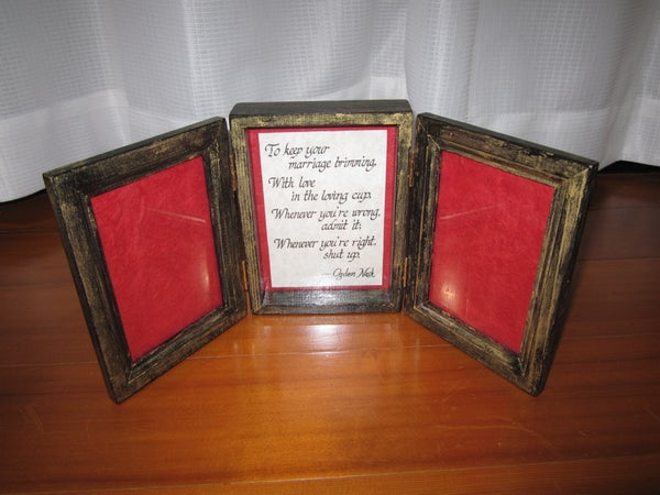 Tri-Fold Picture Frame Gift