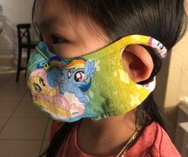 Kids Cloth Mask W/ Ear-Keyhole (WITHOUT Pocket Insert Filter )