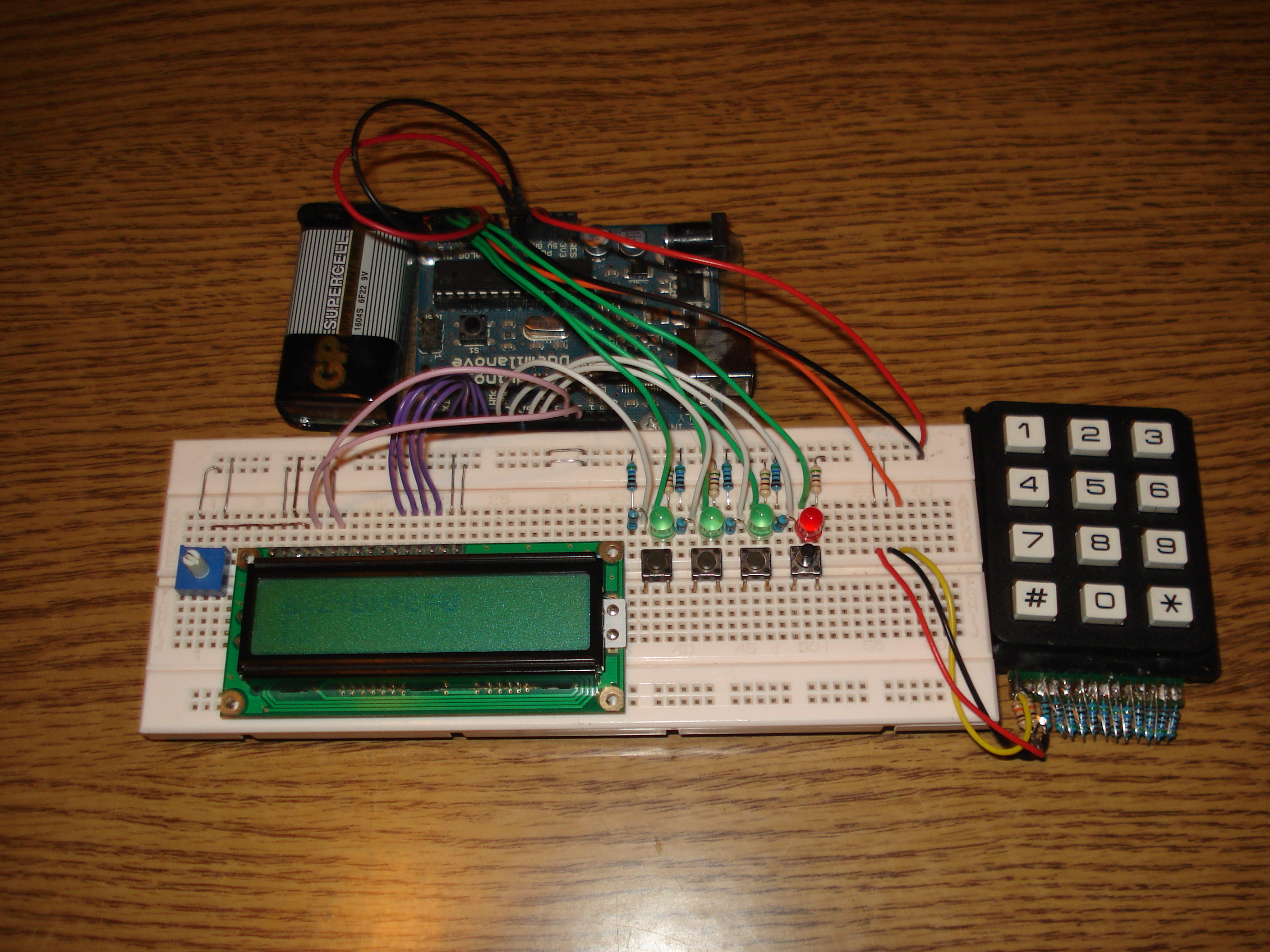Second degree equation solver with arduino