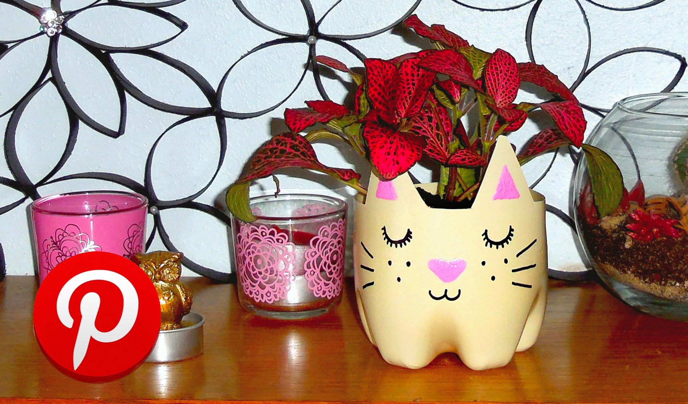 DIY cat planter! ❤ Pinterest recreation | DIY room decor
