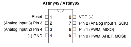 Connecting the Arduino to the ATtiny Pins