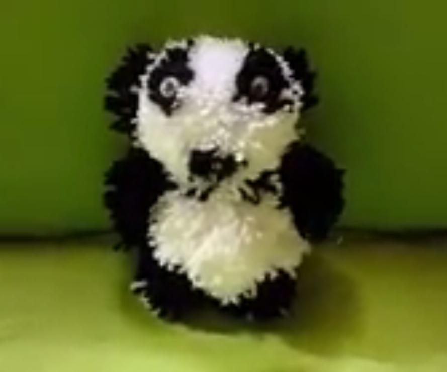 DIY- Craft pom pom teddy bear