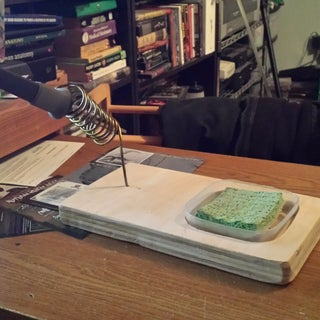 Homemade Nearly-free Soldering Iron Stand