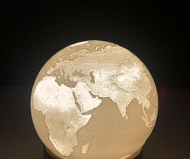 Spherical Lithophane Lamp