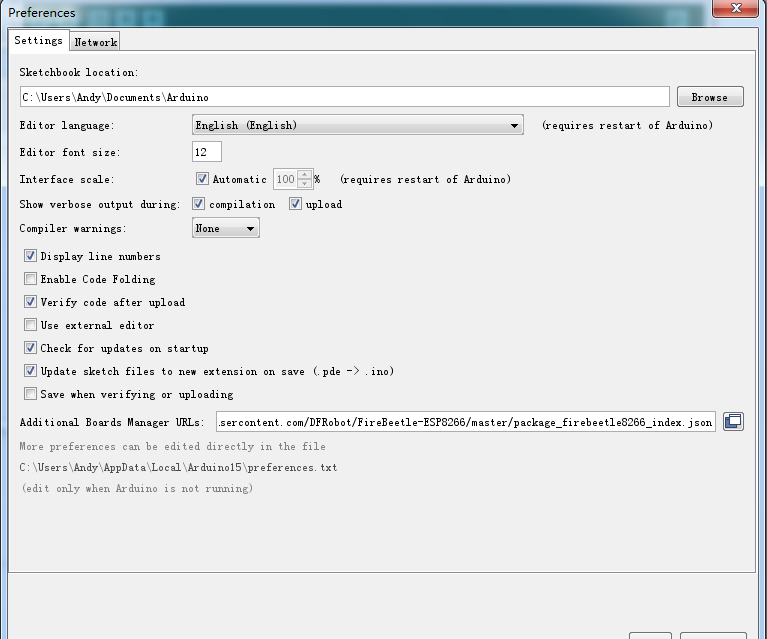 Arduino IDE for Building Compiling Environment of ESP32