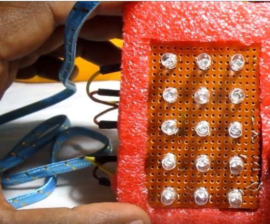 Arduino 5X3 LED Matrix to Run Alphabets