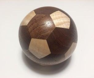 用木头制作一个截断的icosahedron