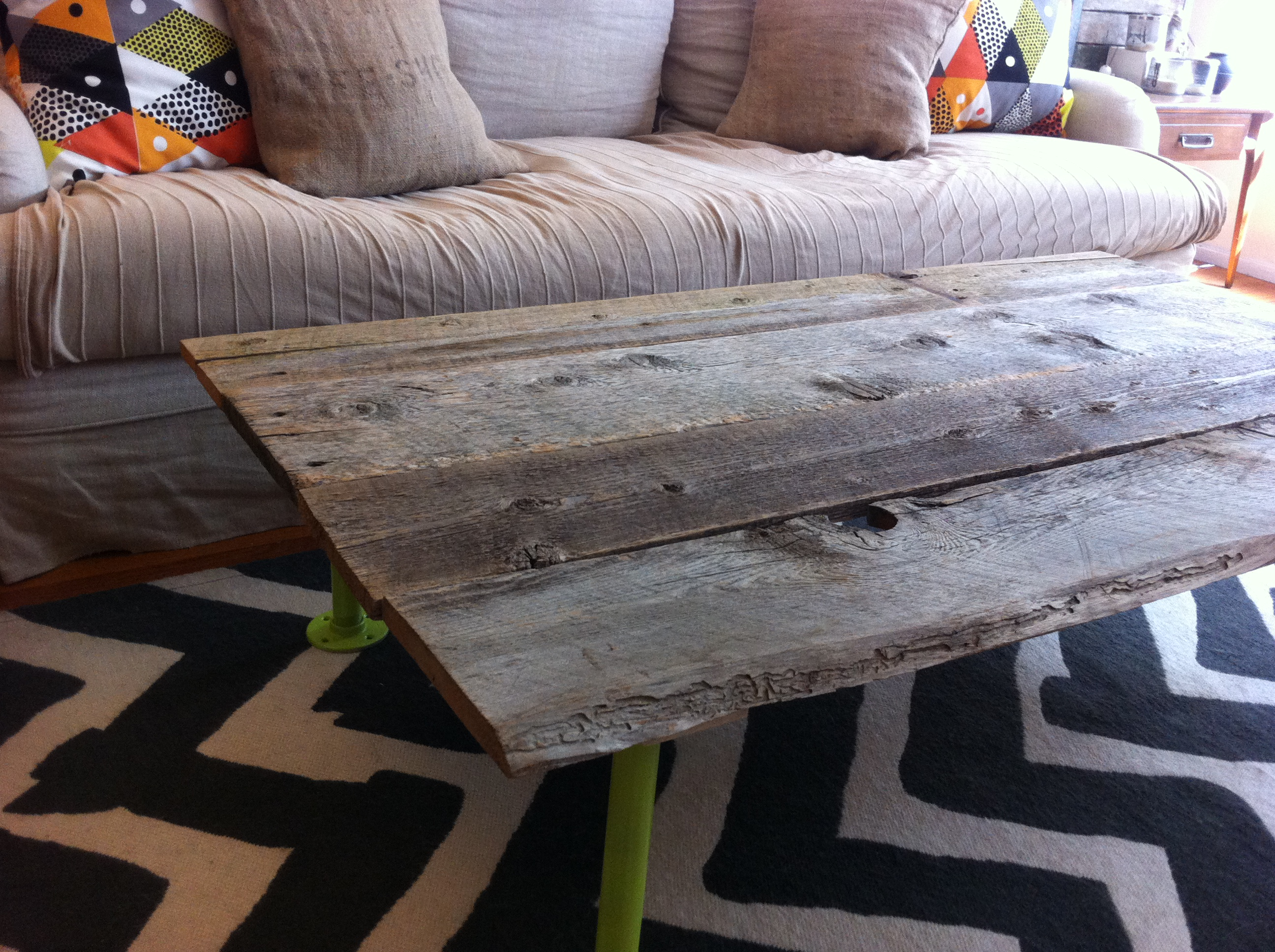 How to Build a Coffee Table from Reclaimed Wood