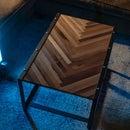 鲱鱼骨工业咖啡桌