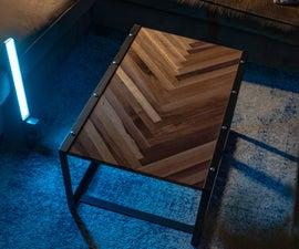 Herring Bone Industrial Coffee Table