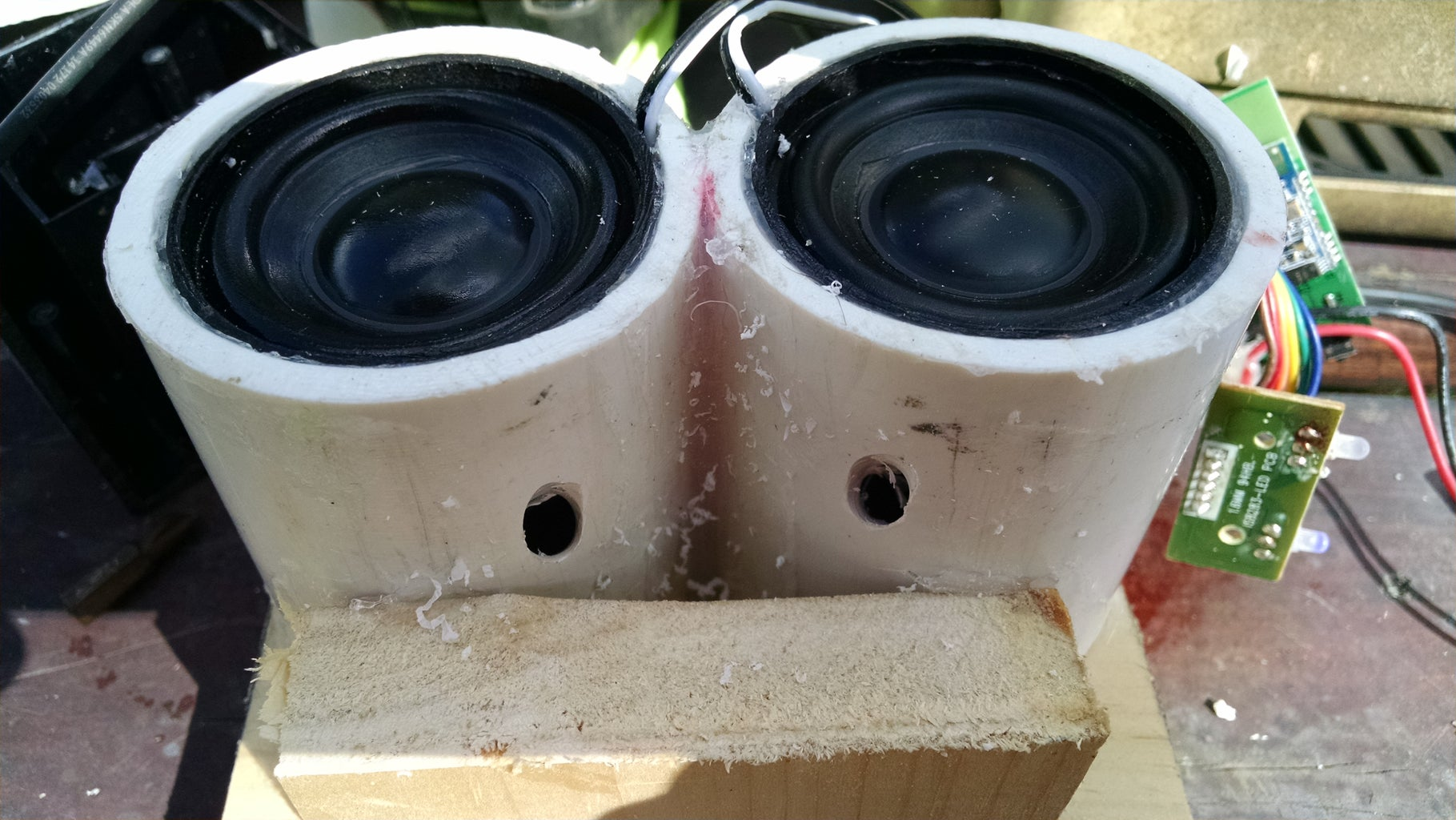 Glue and Speaker Install