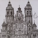 Drawing of the Cathedral of Santiago De Compostela