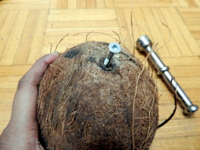 Drain Coconut Water and Drink It :)