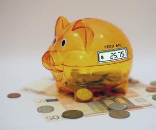 Piggy Bank Coin Counter