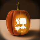 How to use a picture as a face for a 3d CAD Jack o' Lantern (updated)