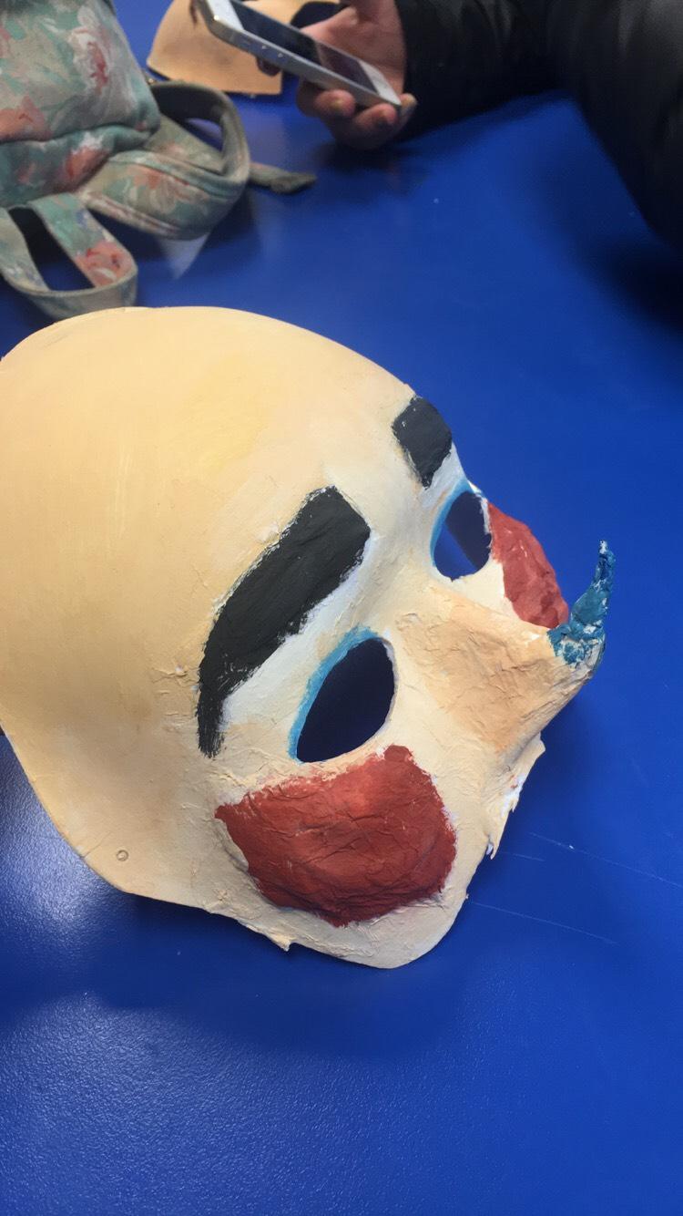 Chorus mask for the play 'Medea'