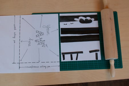 About Layout, Ink, Paint and Roller Stamping