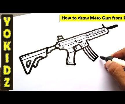 HOW TO DRAW PUBG GUN M416