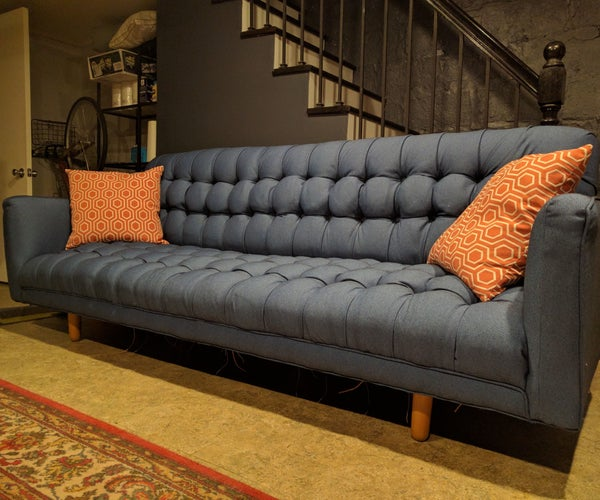 Sofa Reupholstery With Biscuit or Square Tufting